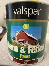 Valspar 2121 11 Red Barn Fence Oil Paint 1 Gallon Ebay