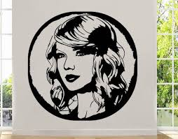 Art Portrait Taylor Swift Wall Decal Top Musician Vinyl Etsy