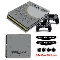 For Sony Ps4 Pro Console Skin Sticker With God Of War Vinyl Protect Cover 23 Ebay