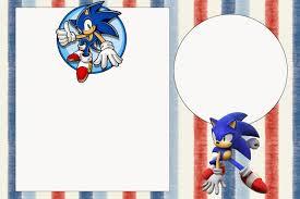 Imprimir Gratis Invitaciones De Sonic Para Editar Ondedrawer