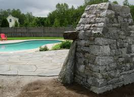 outdoor fireplace and patio north