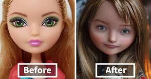 ukrainian artist removes makeup from