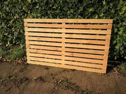 Siberian Larch Solid Wood Fencing Panel A Grade Horizontal Slatted Battens Timberulove