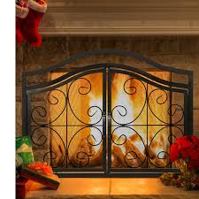off on costway fireplace screen with