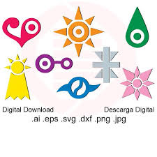 Anime Svg Clipart Digimon Crest Printable Wall Art Decal Etsy