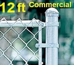 12 Ft Galvanized Commercial System Complete Package With Line Posts 2 Od X 15 Ft With Hardware Top Rail 1 5 8 Mesh 2 X 9 Gauge