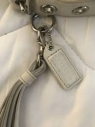 pattern white leather purse with clutch