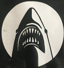 Jaws Great White Decal Sticker Wall Laptop Car Etsy