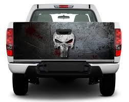 Punisher Stickers On Truck