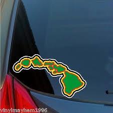 Truck Window Sticker Kanaka Maoli Hawaiian Rasta Color Hawaii Decal Car