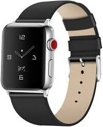 Amazon.com: Tohsssik Leather Bands for Apple Watch Band 42mm 44mm Men &  Women Sport Genuine Leather Strap Replacement Band Compatible for iWatch  Series 5 4 3 2 1, Black