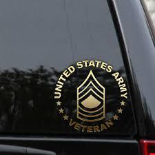 Army E 8 Master Sergeant Veteran Retired Decal Sticker Msg Car Truck Laptop Ebay