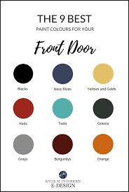 best paint colours for your front door