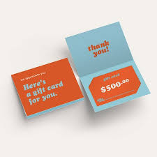 gift card holder printing
