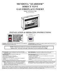 mendota gas fireplace insert model d 30