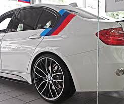 Product Bmw M Color Stripes Rally Side Top Racing Motorsport Vinyl Decal Sticker
