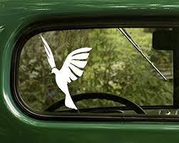 Amazon Com 2 Dove Bird Silhouette Peace Decals Sticker White For Window Car Truck Jeep Laptop Bumper Rv Home Kitchen