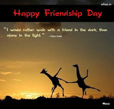 happy friendship day greetings sun shine natural quote giraffe