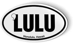 Amazon Com Stickers Tees Lulu Honolulu Hawaii Oval Car Magnet 5 Automotive