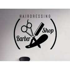 Walls Barber Shop Emblem Wall Vinyl Decal Hair Salon Vinyl Sticker Window Stickers 29