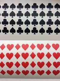32 Playing Cards Symbols Vinyl Stickers Poker Card Suits Etsy