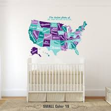 Usa Wall Decal Map Vintage Retro Wall Decals Name Wall Decals Wall Murals