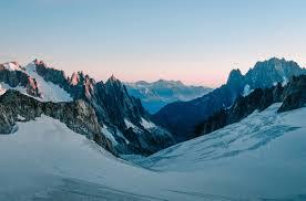 glacier at mont blanc 4k wallpaper