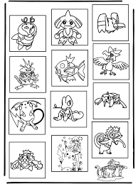 Pokemon Memory Kleurplaat Pokemon