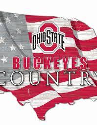 ohio state buckeyes team flag country
