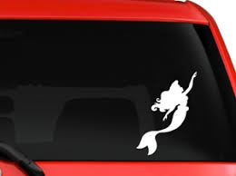Disney Little Mermaid Ariel 2 Silhouette Car Truck Decal Sticker Laptop 6 White Ebay