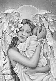The Vintage Angel Jessica Galbreth Herten Tekening Kleuren