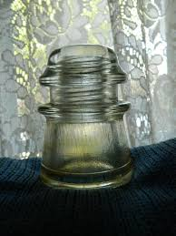 clear small glass hemingray insulator
