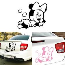 Cartoon Mickey Mouse Car Stickers And Decals Funny Wrap Vinyl Exterior For Auto Motorcycle Body Car Styling Accessories Buy At The Price Of 0 99 In Aliexpress Com Imall Com