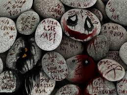 joker quotes on rocks × batman