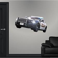 36 Police Cop Car Wall Decal Sticker 3d