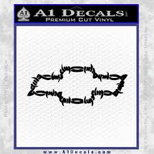 Chevy Barbed Wire Bow Tie Decal Sticker A1 Decals