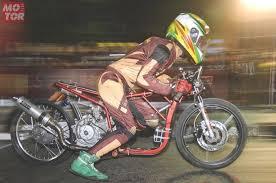 motor seken sisa balap drag bike