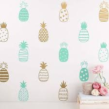 14 Style Pineapple Art Decor Vinyl Wall Sticker Cute Pineapple Pineapple Wall Decals Diy Wall Decals Wall Stickers Living Room