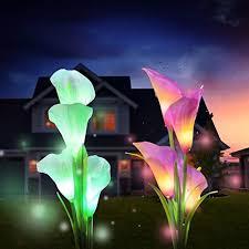 solar garden lights outdoor 2 pack