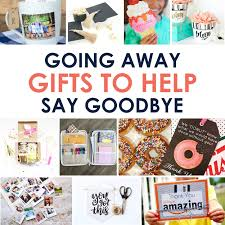 going away gifts to help say goodbye