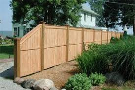 Cedar Fence Tapered Towards The End Fence Design Wood Fence Wood Fence Design