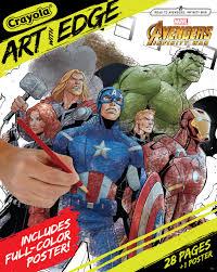 Crayola Art With Edge Coloring Book featuring Marvel Avengers - Walmart.com  - Walmart.com