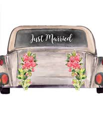 Just Married Car Decal Just Married Car Sticker Newlywed Car Decal