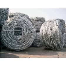 G I Hot Dip Silver Barbed Wire For Security Fencing Size 12x14 Rs 56 Kg Id 21828214391