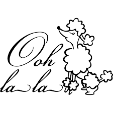 Shop Design On Style Ooh La La Poodle Paris Vinyl Lettering Overstock 9425324
