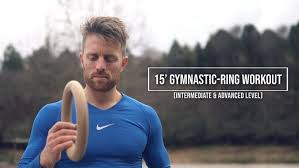 15 minute workout with gymnastic rings