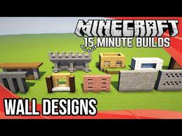 minecraft 15 minute builds wall