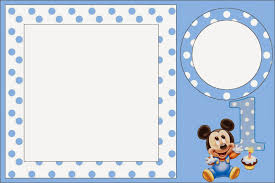 Mickey First Year With Polka Dots Free Printables 004 Jpg 1600