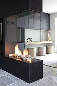 fireplace surround rusted steel