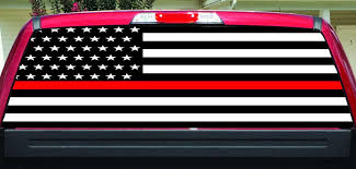 Thin Red Line Firefighter Rear Window Decal Let S Print Big